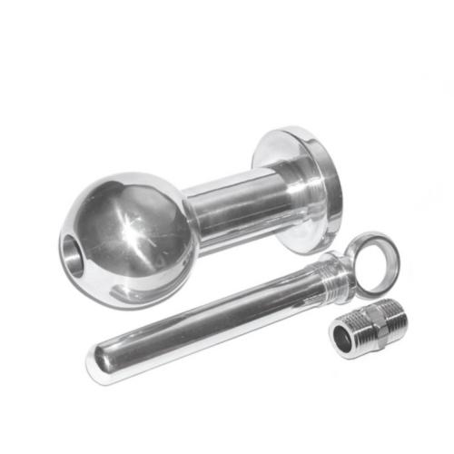 2-in-1 Analplug und Analdusche aus Aluminium